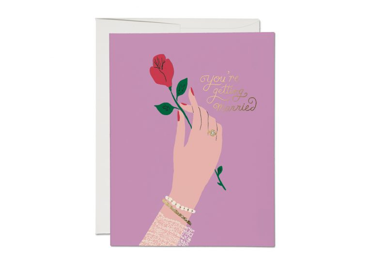 Red Cap Cards - Engagement Rose