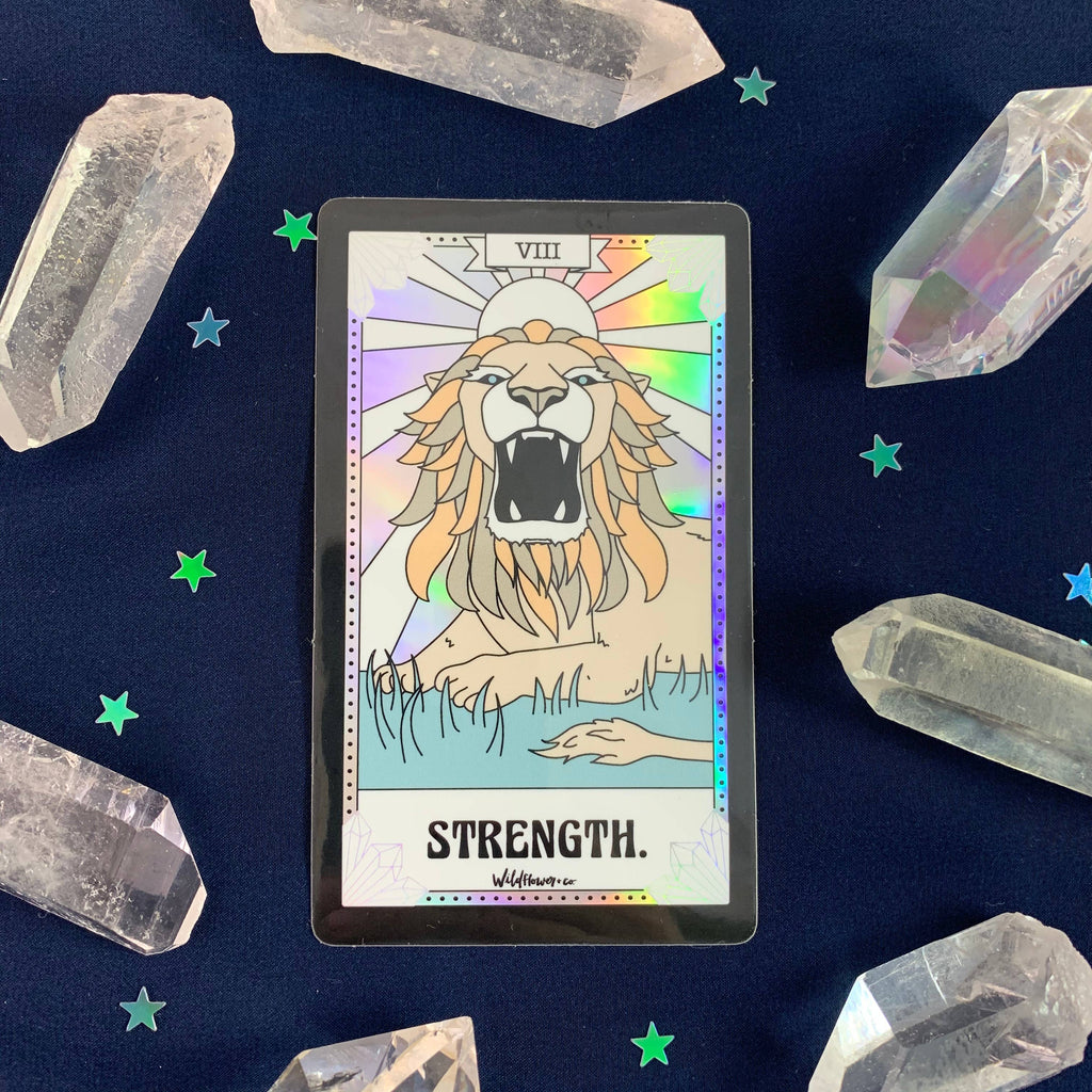 Wildflower + Co. - Tarot  Sticker - Strength