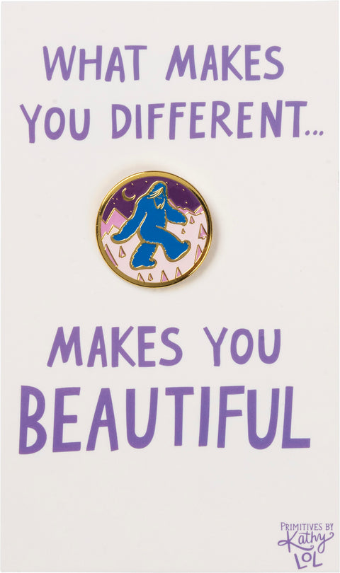 Enamel Pin - Yeti - What Makes You Different
