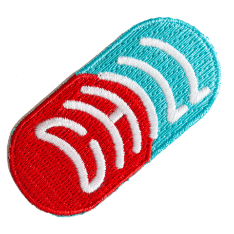 These Are Things - Chill Pill Embroidered Iron-On Patch