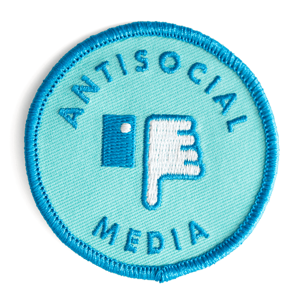 These Are Things - Antisocial Media Embroidered Iron-On Patch