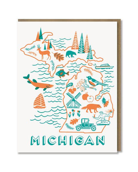 Paper Parasol Press - Michigan State Love Card
