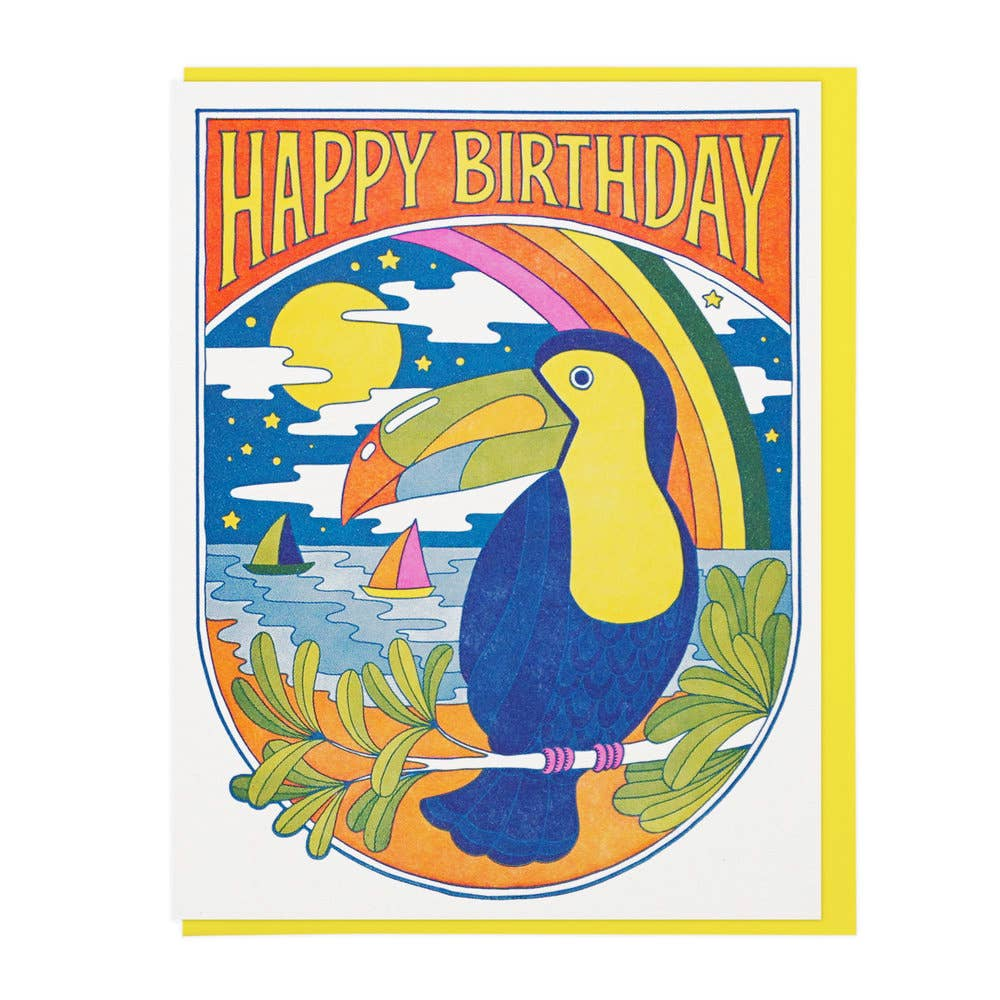 Lucky Horse Press - Toucan Nights Birthday Card