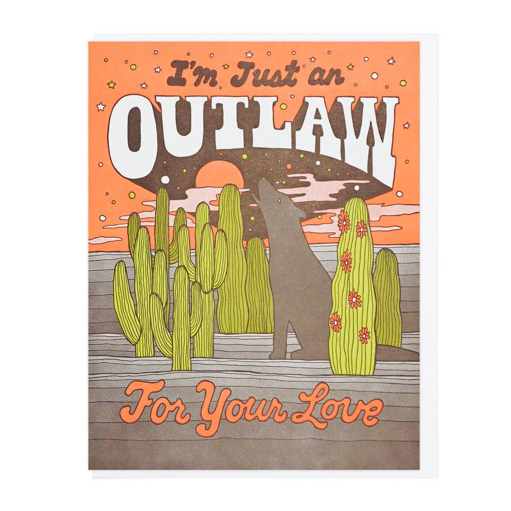 Lucky Horse Press - Outlaw For Your Love Card