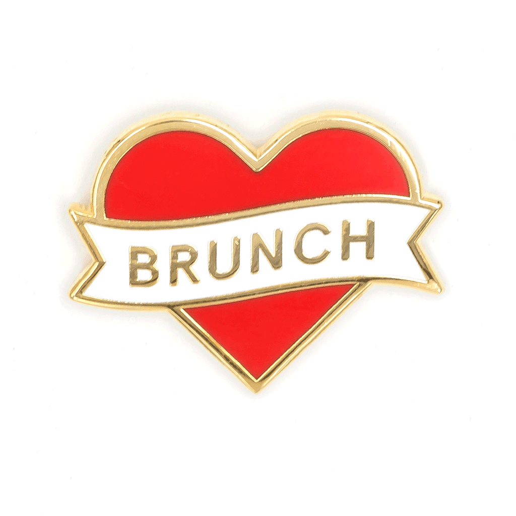 These Are Things - Heart Brunch Enamel Pin
