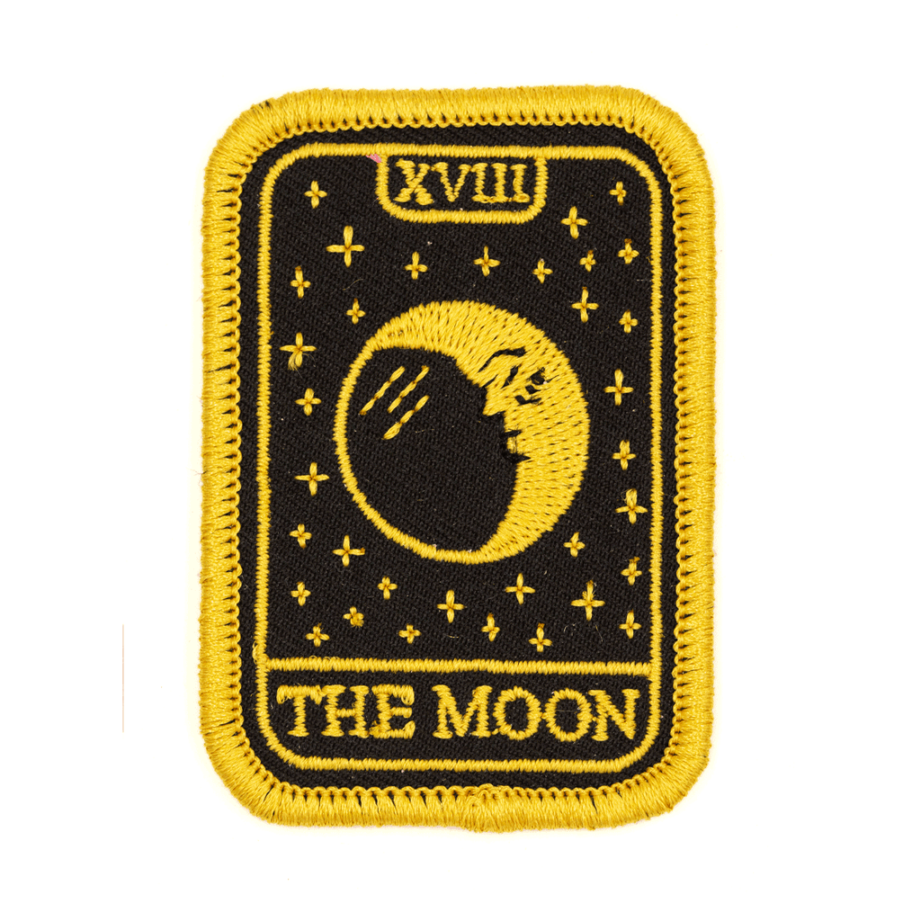 These Are Things - Moon Tarot Embroidered Iron-On Patch