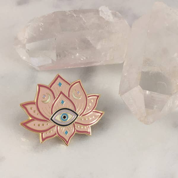 Wildflower + Co. - Enamel Pin, Mystical Lotus