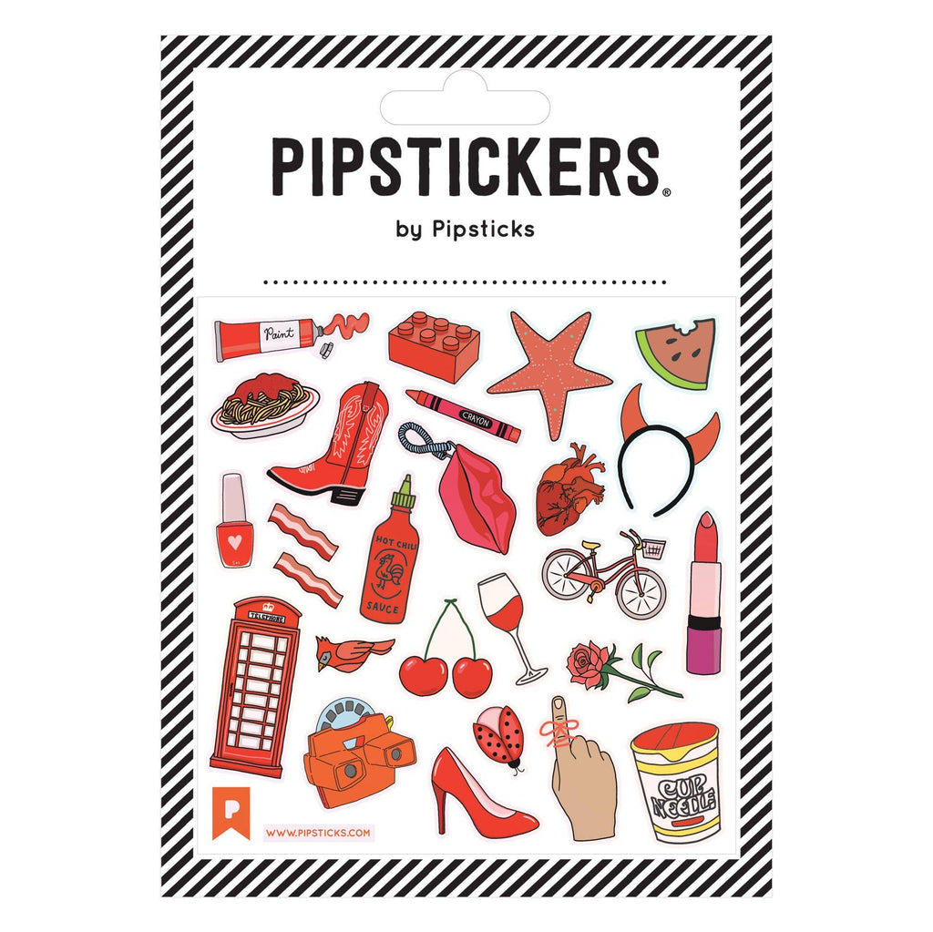 Pipsticks Stickers- Gettin' RED-dy