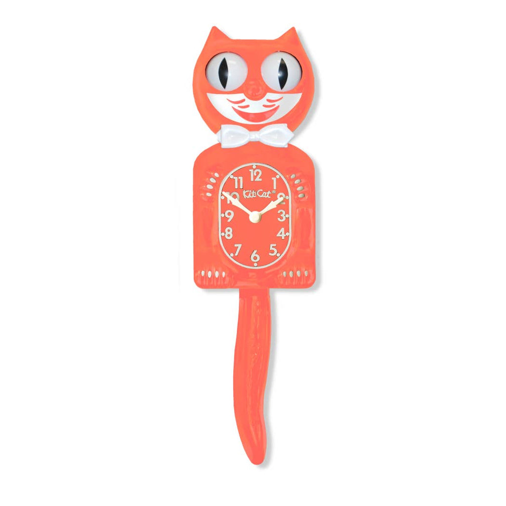 Kit-Cat Klock - Living Coral Kit Cat Klock