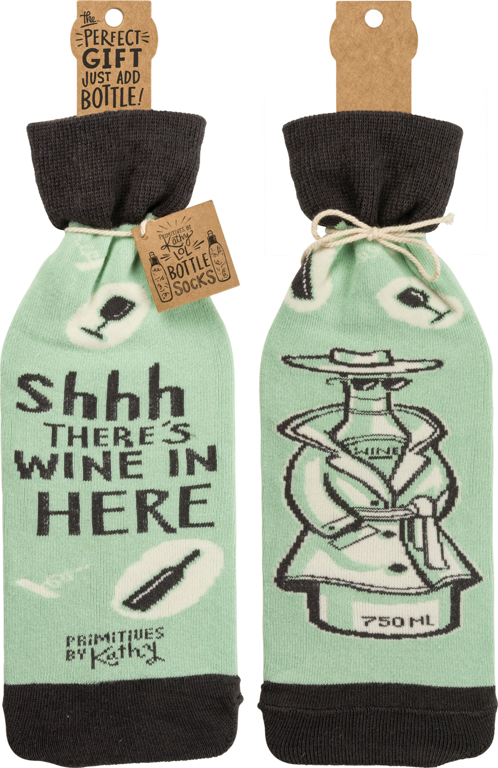 Bottle Sock - Shhhh…There's Wine In Here