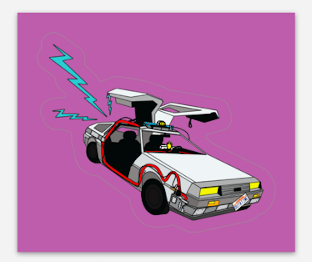 ABCs of the '80s - DeLorean Sticker
