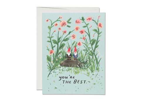 Red Cap Cards - Garden Gnomes