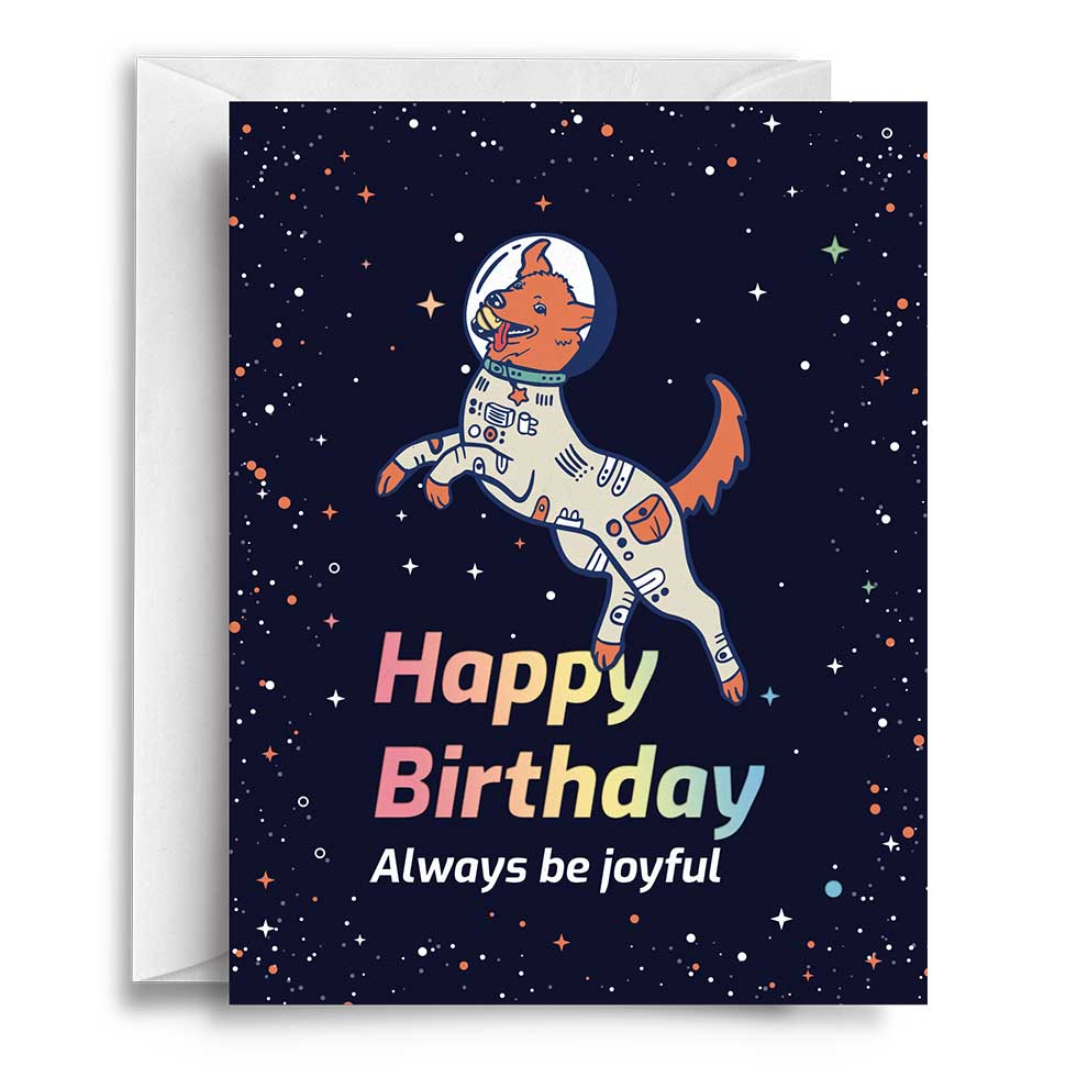 Compoco - Happy Birthday Dog Greeting Card
