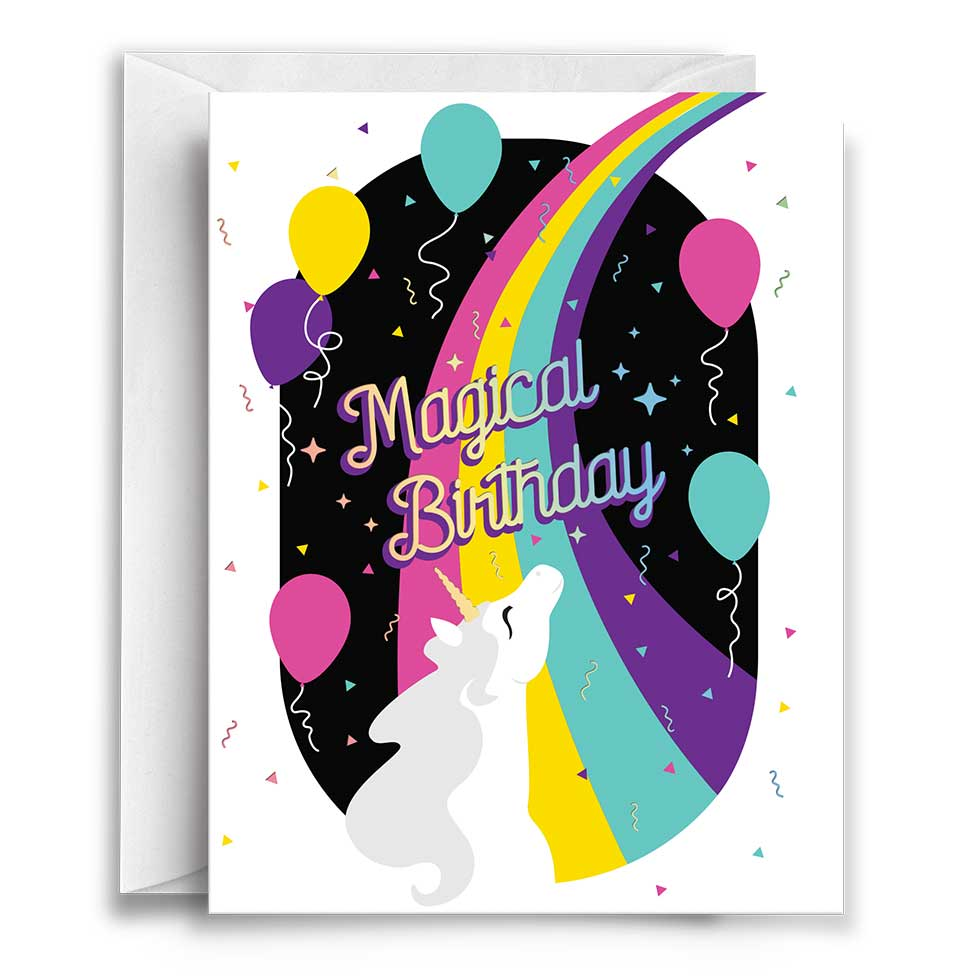 Compoco - Rainbow Magical Birthday Greeting Card