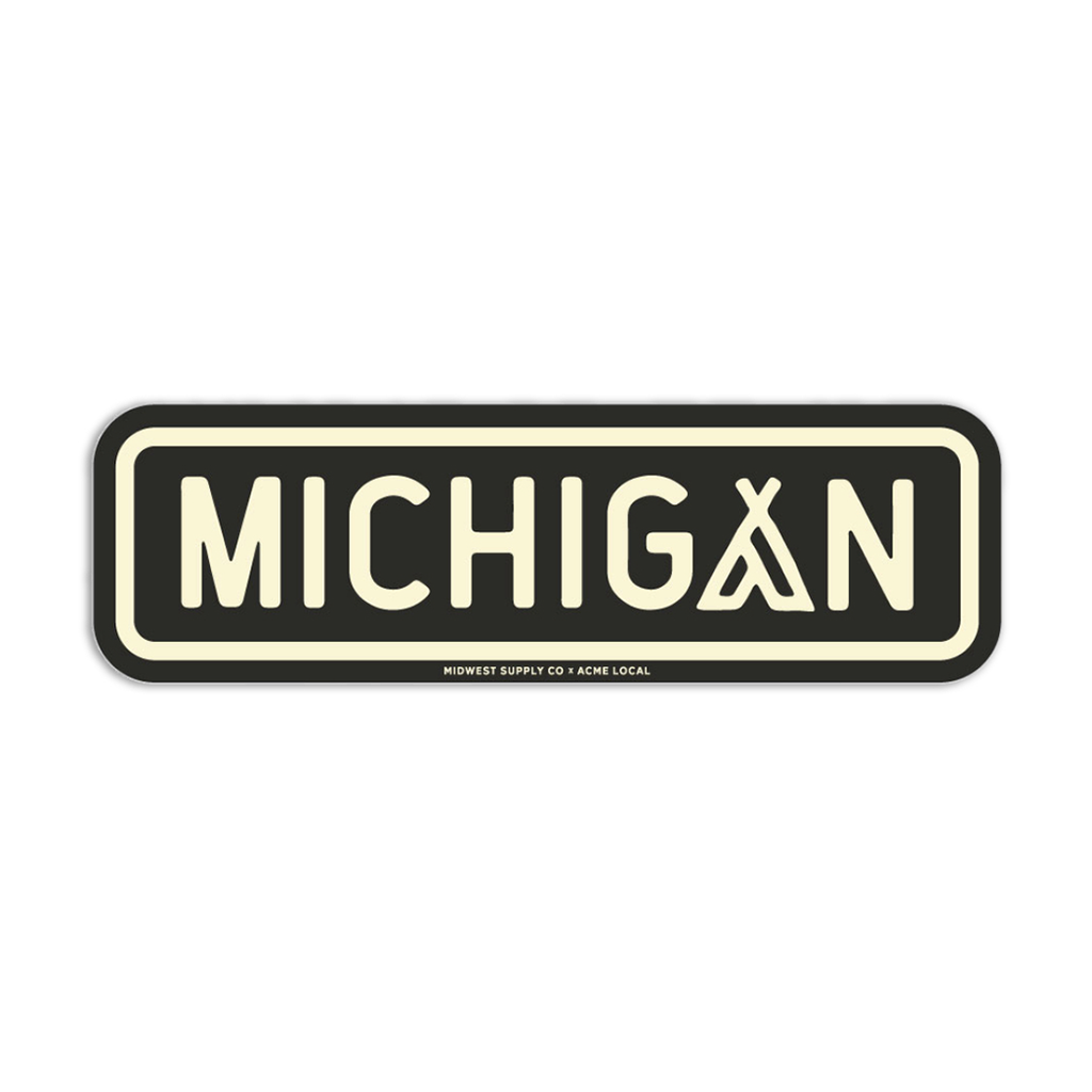 Midwest Supply Co. - Michigan Camping Sticker