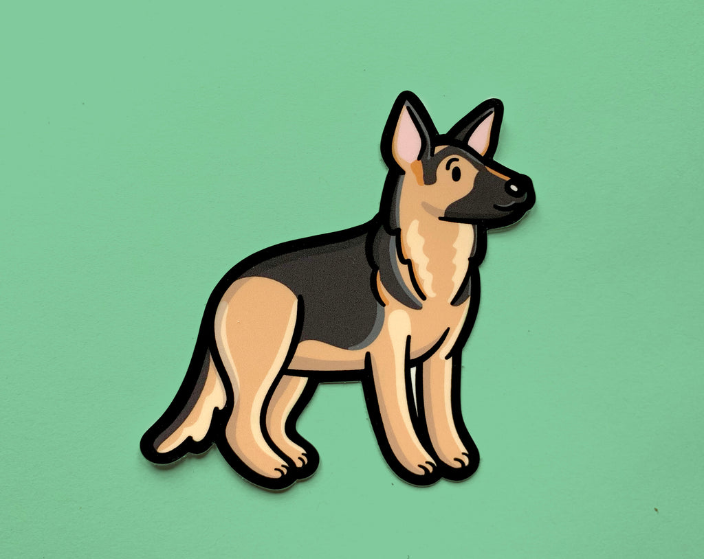 Emily McGaughey - Screen Printing & Illustration - German Shepherd Vinyl Sticker