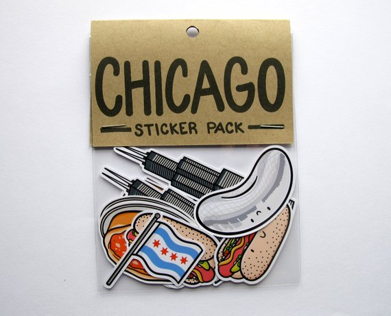 Emily McGaughey - Screen Printing & Illustration - Chicago Sticker Pack