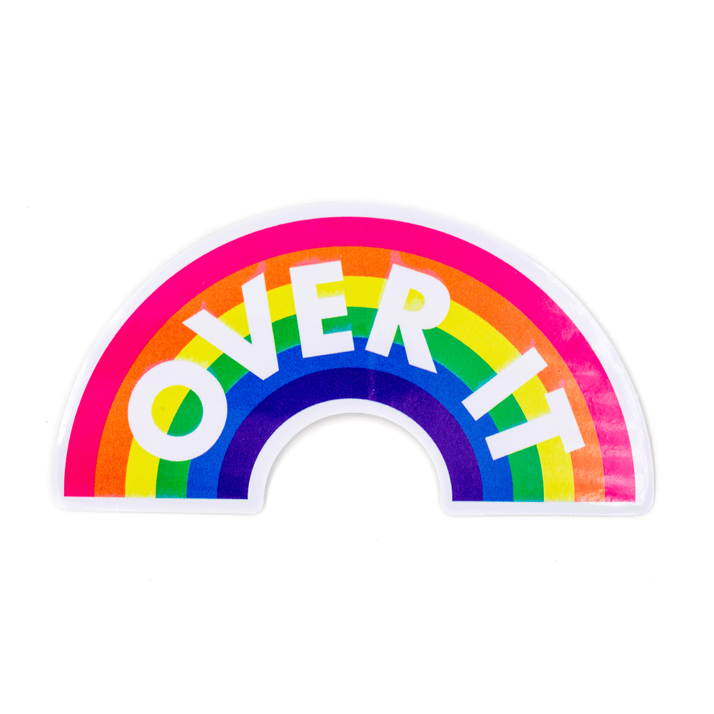These Are Things - Over It Vinyl Sticker