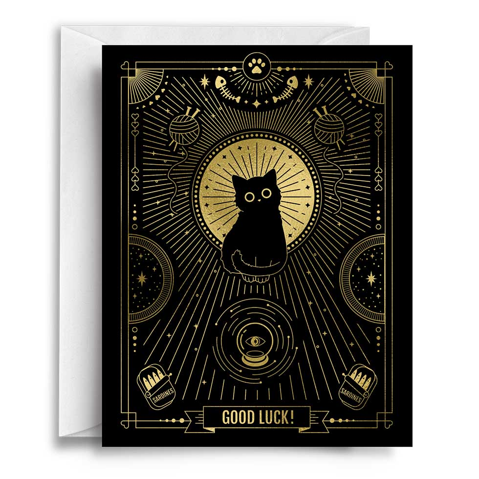 Compoco - Good Luck Cat Greeting Card
