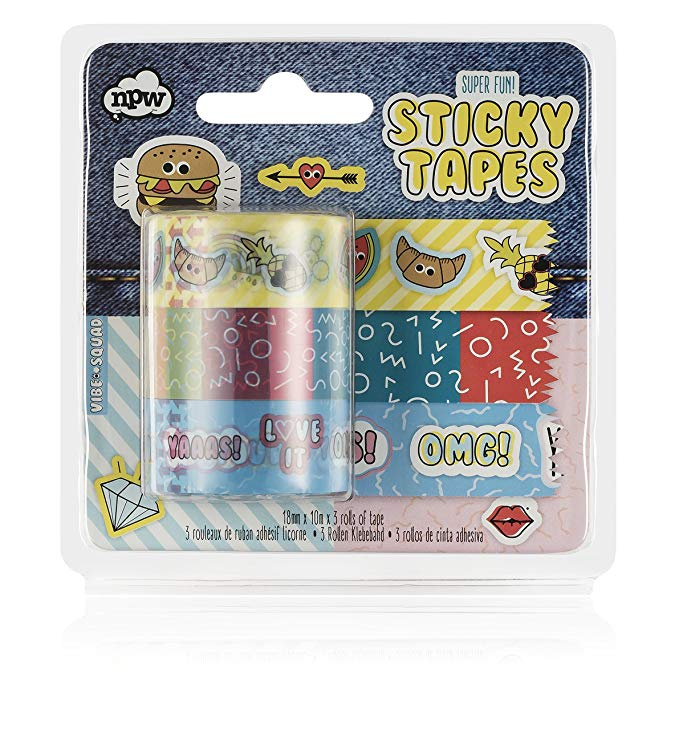 NPW-USA Sticky Craft Tapes, Pack of 3
