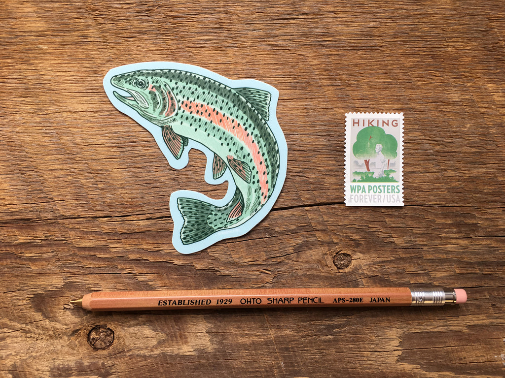 Noteworthy Paper & Press - Trout Sticker