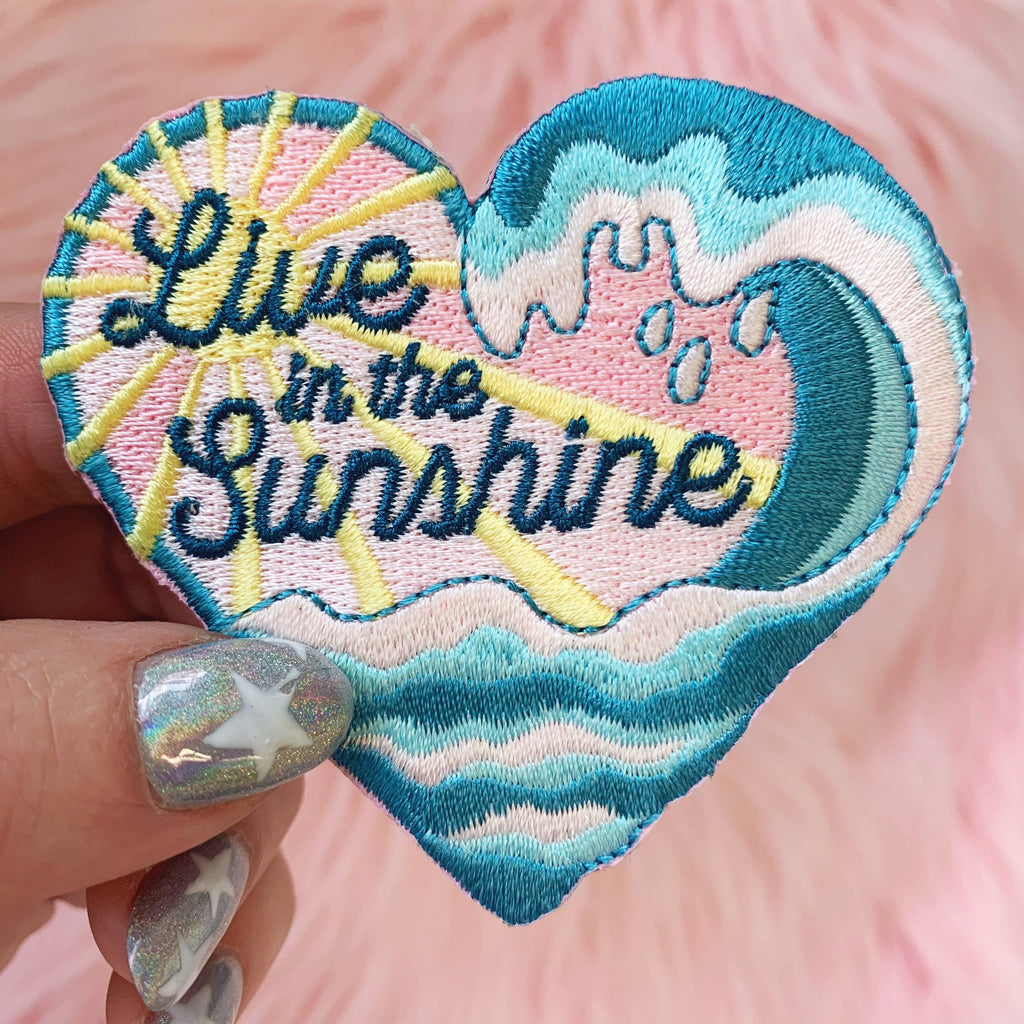 Wildflower + Co. - Patch - Waves Collection - Live in the Sunshine Heart Patch