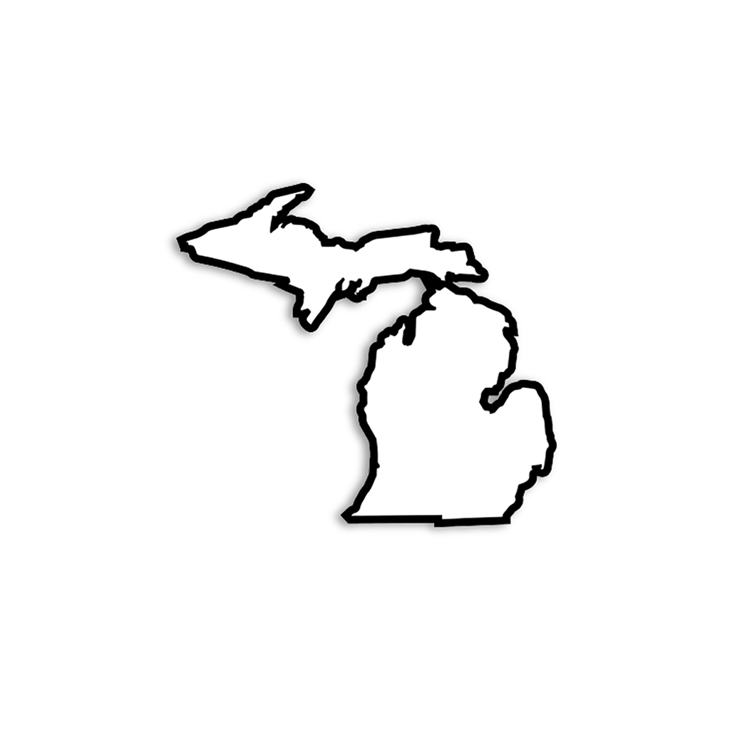 Midwest Supply Co. - White & Black Michigan Sticker
