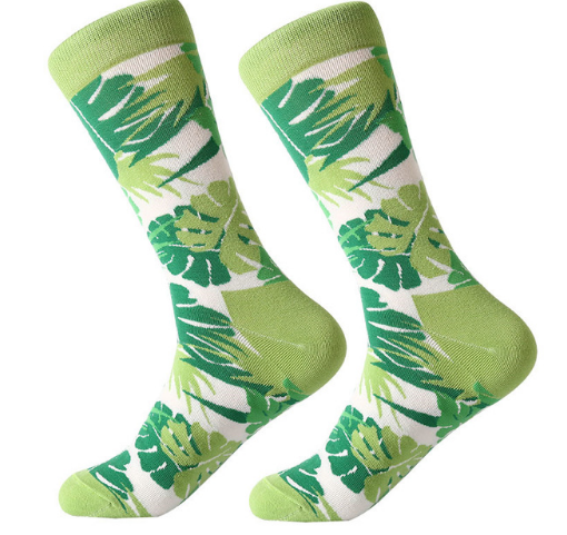Monstera Leaf Quirky Socks