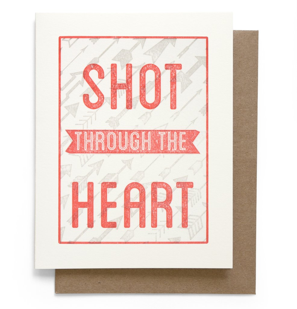 Shot Through the Heart Card