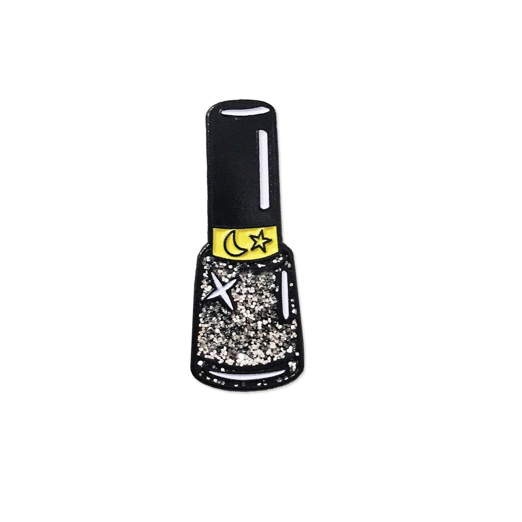 Laser Kitten Cyber Girl Nail Polish Pin