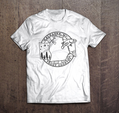 Trout Country Kalkaska T-Shirt- White