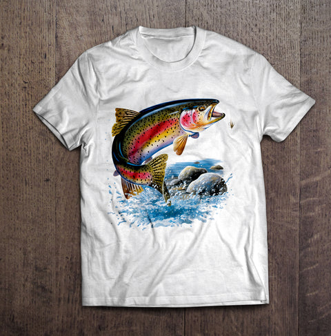 Rainbow Trout T-Shirt-White