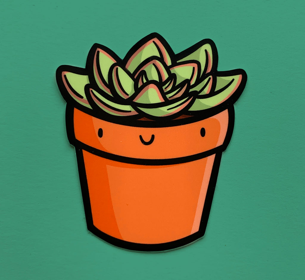 Emily McGaughey - Screen Printing & Illustration - Succulent Vinyl Sticker