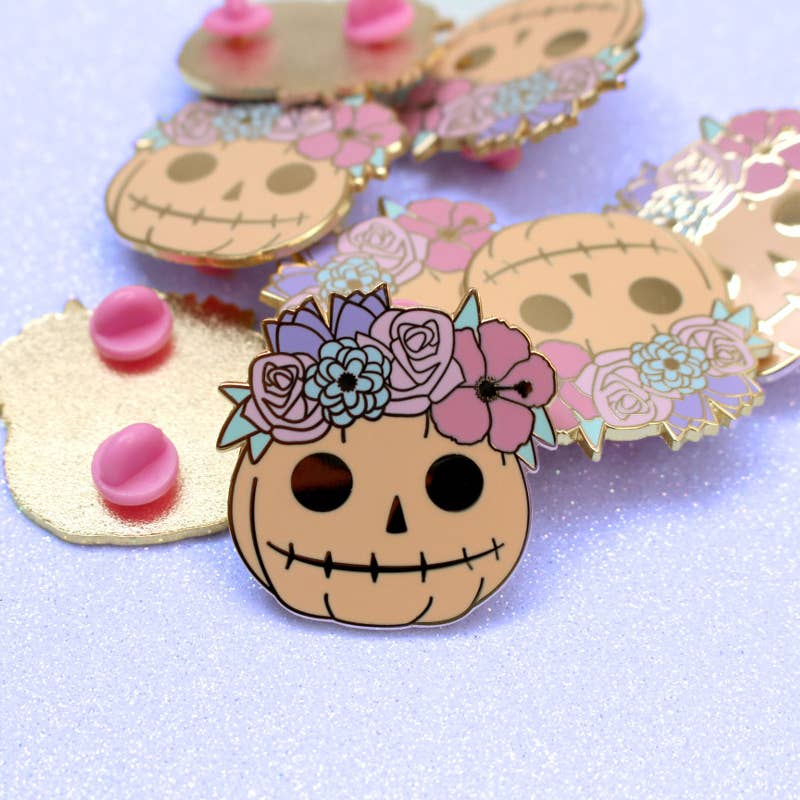 Glitter Punk - Cute Halloween Pumpkin enamel pin