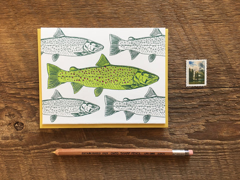 Noteworthy Paper & Press - Rainbow Trout Blank Card