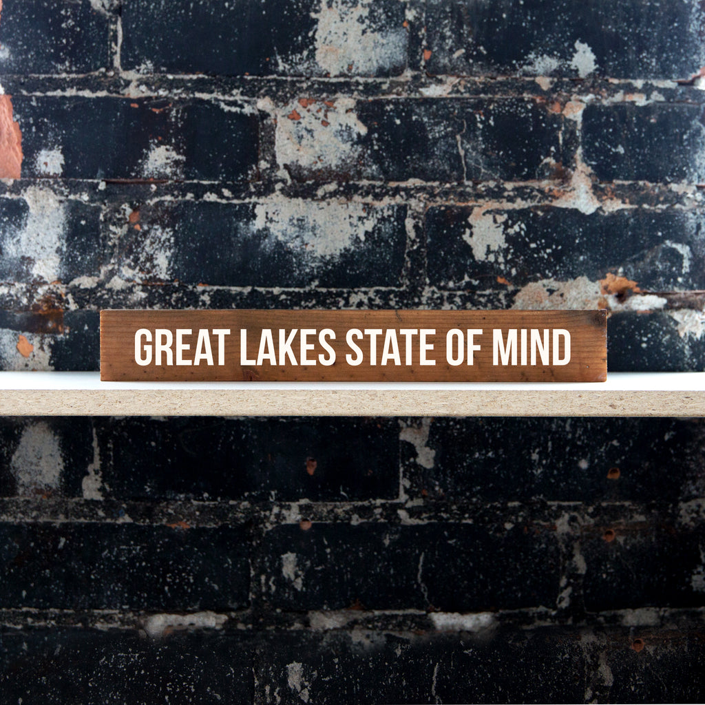 Woodward Throwbacks - Great Lakes State of Mind Shelf Sitter