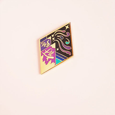 "Elorasaurus ""It's Lit"" Enamel Pin"
