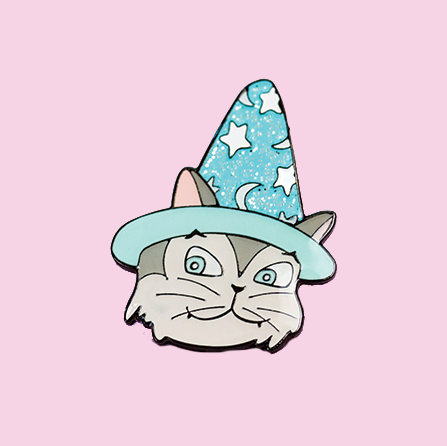 Bob the Wizard Cat Enamel Pin