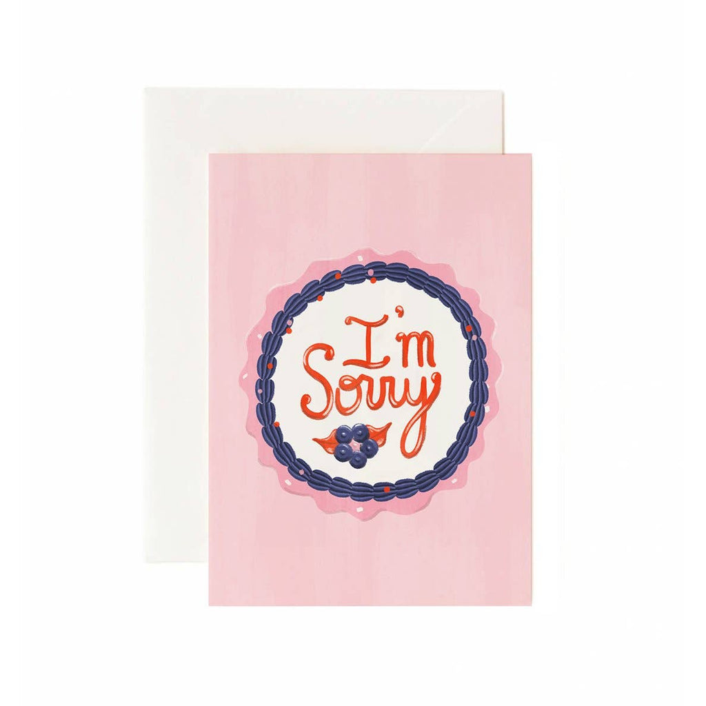 Brandelane - I'm Sorry Cake Sympathy Greeting Card