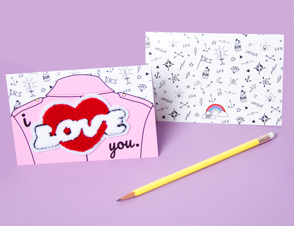 "Patch ""I Love you"" Greeting Card"