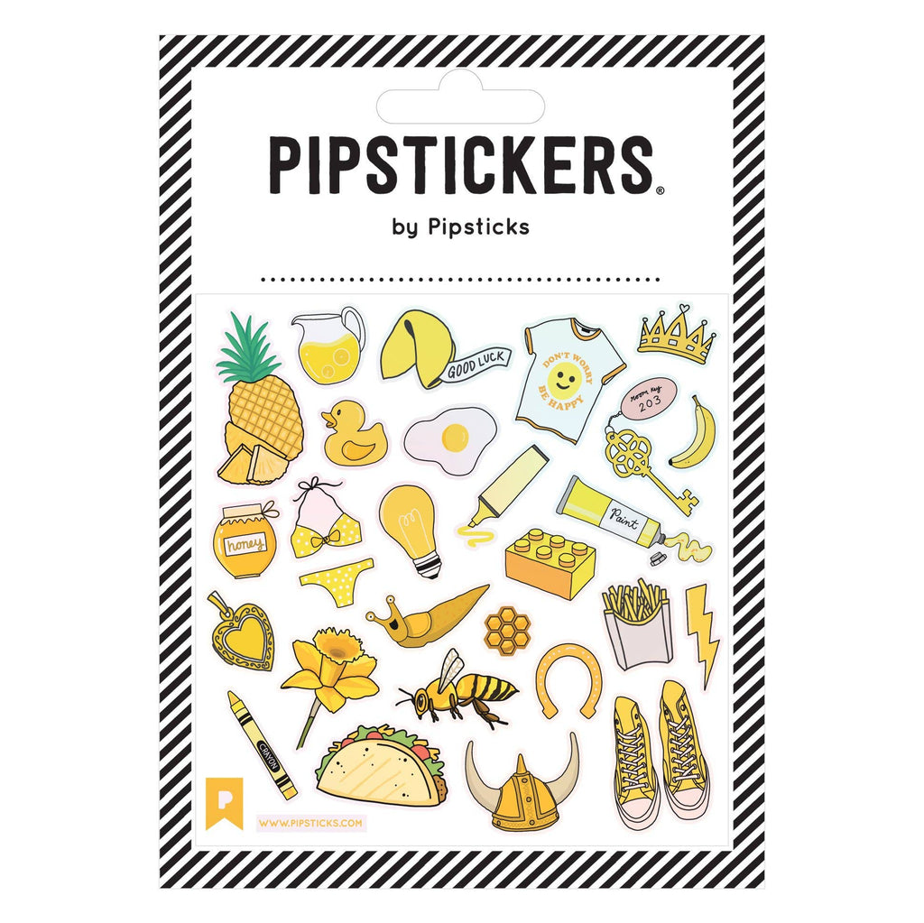 Pipsticks - YELLOW There Stickers