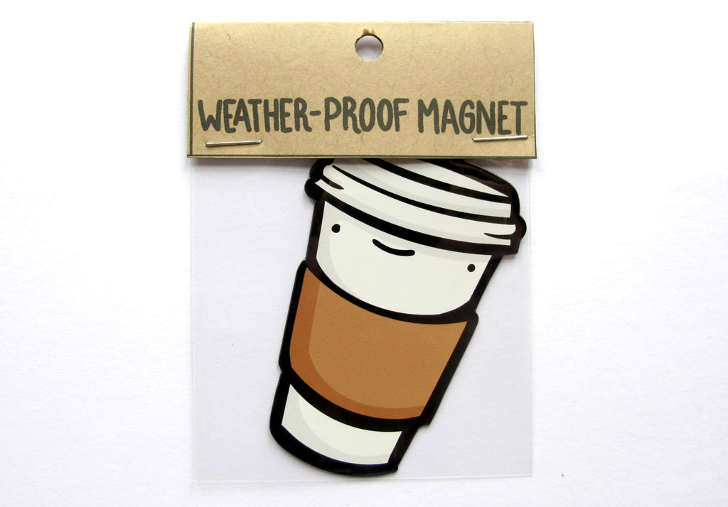 Emily McGaughey - Screen Printing & Illustration - To Go Coffee Magnet