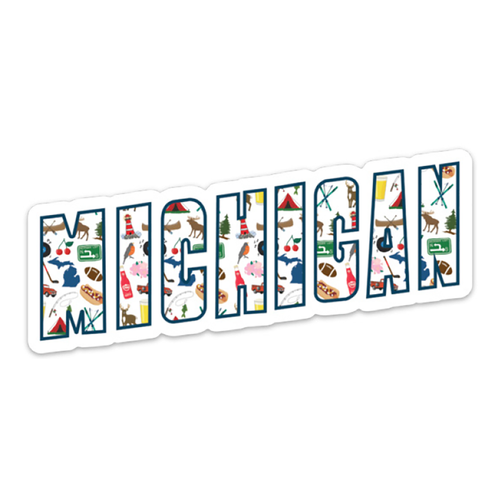 Midwest Supply Co. - Michigan Icons Sticker