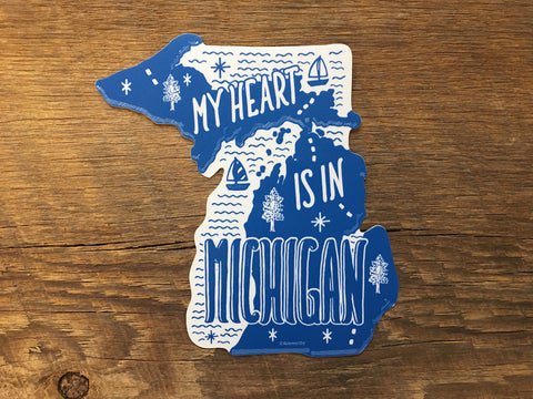 Noteworthy Paper & Press - Michigan Sticker