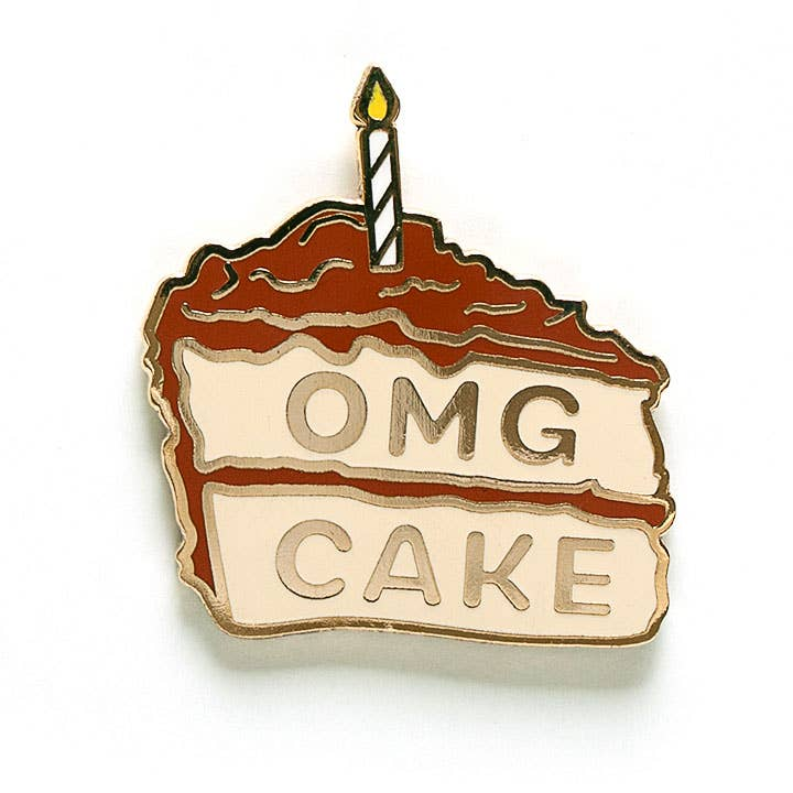 Smarty Pants Paper - OMG Cake pin