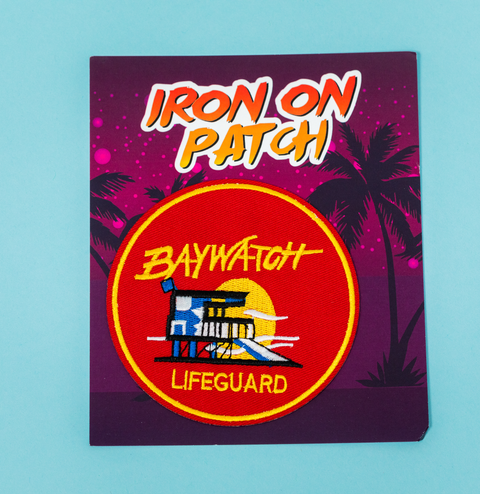 Bay Watch Iron On Patch