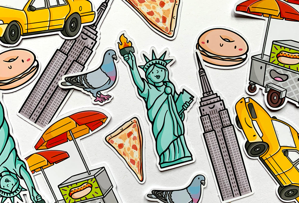 Emily McGaughey - Screen Printing & Illustration - New York City Sticker Pack
