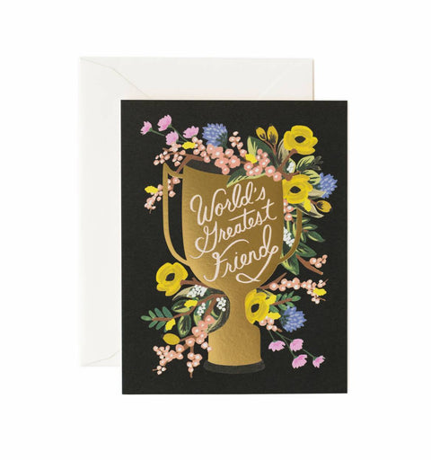 Rifle Paper Co.: WORLD'S GREATEST FRIEND CARD