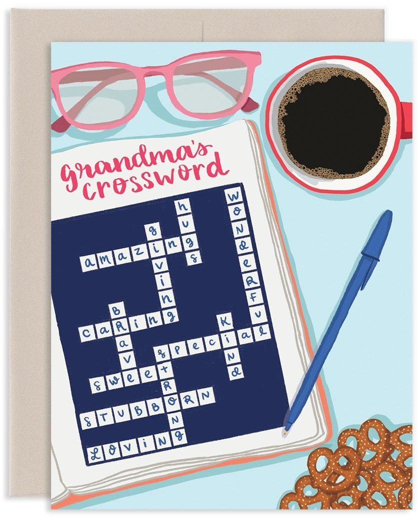 Grandma's Crossword Puzzle Card