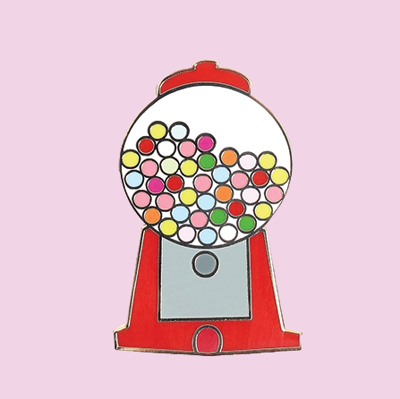 Gumball Machine Enamel Pin - Quirky Crate